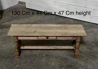 Large French Bleached Oak Coffee Table (2 of 14)