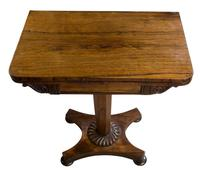 Small Rosewood Card Table (3 of 10)