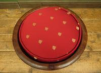 Antique Chinese Wooden Stool with Red Cushion (5 of 13)