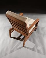 Iconic Pair of Rene Gabriel Mid 20th Century Oak Lounge Chairs (6 of 7)