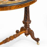 Victorian Walnut & Pietra Dura Table (8 of 16)