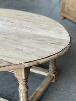 Bleached Oak Drop Flap Coffee Table (16 of 17)