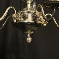 English Silver Plated 5 Light Antique Chandelier (7 of 10)