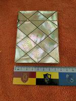 Antique Engraved Mother Of Pearl Card Case With Faux Tortoise Shell Beading C1880 (6 of 12)