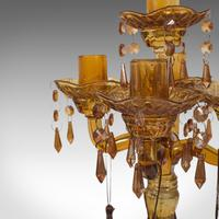 Pair of Antique Candelabra, English, Glass, Candle Stand, Victorian c.1890 (7 of 12)