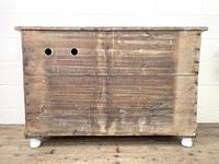 Distressed Antique Pine Cupboard with Painted Base (10 of 10)