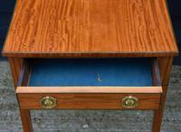 Superb Quality Georgian Satinwood & Inlaid Lamp / Wine / Side Table c.1800 (9 of 10)