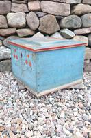 Swedish 'folk art' original blue paint box from hälsingland region, 1847. (22 of 26)