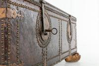 18th Century Leather Bound Spanish Trunk (9 of 9)