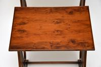 Antique Regency Style Yew Wood Nest of Tables (8 of 8)