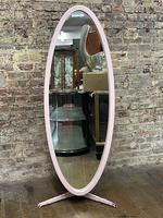 Pink 1960's Oval Mirror (2 of 5)