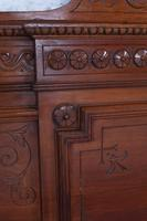 Beautiful Carved Walnut European King Size Bed (12 of 13)