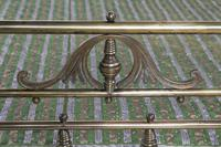 Handsome Victorian All Naturally Aged Brass King Size Bed (5 of 10)