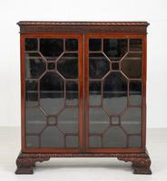 Mahogany Chippendale style 2 door display cabinet (2 of 11)