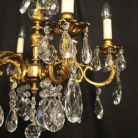 Italian 6 Light Gilded Antique Chandelier (3 of 10)