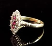 Victorian Ruby & Diamond Navette Ring (8 of 14)