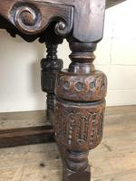 Antique Carved Oak Refectory Dining Table (13 of 15)