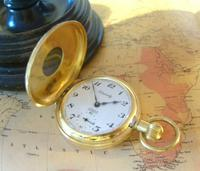 Vintage Pocket Watch 1970s Swiss County 17 Jewel 12ct Gold Plated FWO (4 of 12)