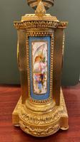 19th Century Ormolu & Painted Porcelain Striking 8-day Mantel Clock (4 of 7)
