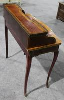 1900s Quality Ladies Mahogany Desk with Kingswood Banding (3 of 4)