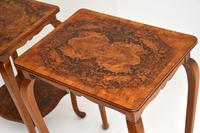 Pair of Matched Burr Walnut Edwardian Side Tables (3 of 10)