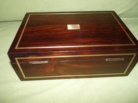 Quality Unisex Inlaid Rosewood Jewellery Box. c1840 (7 of 11)