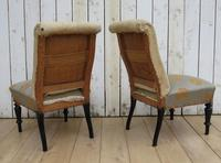 Pair of Antique French Slipper Chairs (3 of 9)