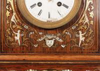 French Brass Inlaid Rosewood Mantle Clock (14 of 14)