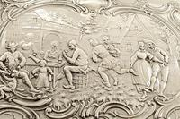 Antique Sterling Silver Trinket Box with Tavern & Fishing Scenes 1909 (3 of 11)