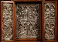 Fine and Very Decorative Russian Triptych Devotional Icon 19th Century (10 of 12)