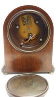 Fantastic Burr Walnut Mantle Clock Rare Snake Hands 8 Day Mantle Clock (4 of 11)