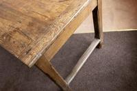 19th Century Oak Farmhouse Table with Drawer (9 of 9)