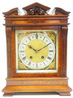 Wow! Superb Antique German Burr Walnut 8-Day Mantel Clock Striking Bracket Clock by Lenzkirch (7 of 10)