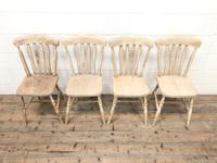 Set of Four Antique Farmhouse Dining Chairs (2 of 8)