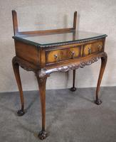 Mahogany Chippendale Style Table with Glass Gallery (2 of 10)
