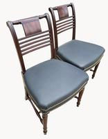 Superb Pair of Regency Side Chairs in Mahogany (2 of 6)