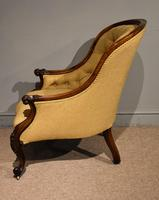 19th Century Carved Upholsterd Armchair (4 of 6)