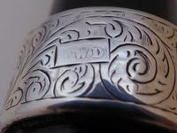 Victorian Walking Stick Cane 1893 Hallmarked Solid Silver Pommel Rosewood Shaft (6 of 12)