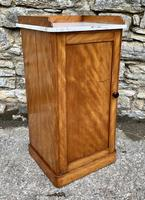 Antique Victorian Satinwood Bedside Pot Cupboard (7 of 16)