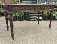 Quality Victorian Oak Writing Desk (3 of 12)