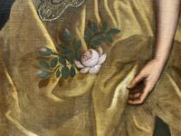 Huge Early 18th Century French Oil Portrait Painting of 'Lucy Webb, Heiress of Ashwick' (12 of 17)