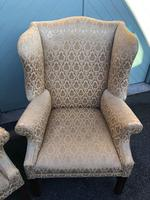 Pair of Antique English Upholstered Wing Armchairs for Recovering (7 of 12)