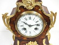 Antique French Shell & Ormolu 8-Day Striking Mantel Clock Rococo Boulle Case Segment Dial Signed (11 of 13)
