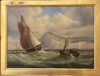 James Edwin Meadows - Attractive Pair of Marine Oil Paintings (5 of 6)
