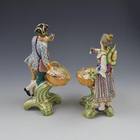 Fine Pair Minton Porcelain Sweetmeat Figures with Baskets Models 84 & 85 c.1830 (8 of 23)