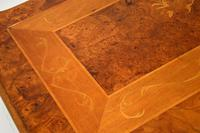 French Style Burr Walnut Inlaid Marquetry Coffee Table (9 of 10)