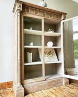 Antique Victorian Bookcase / Cabinet / Bookshelf (6 of 7)
