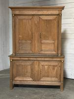 Wonderful French Empire Period Bleached Oak Linen Press (29 of 32)