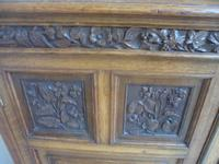 Amazing Matching Pair of Carved Victorian Golden Oak Adjustable Bookshelves (8 of 9)