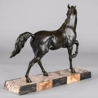French Sculpture of Prancing Horse - Signed C.H. Valton (6 of 8)